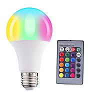 お買い得  LED ボール型電球-HRY 1個 5W 500lm E26 / E27 LEDボール型電球 A60(A19) 15 LEDビーズ SMD 5050 調光可能 装飾用 リモコン操作 RGBW 85-265V