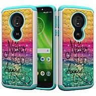 お買い得  携帯電話ケース-ケース 用途 Motorola MOTO G6 / Moto G6 Play 耐衝撃 / ラインストーン / パターン バックカバー ワード/文章 / ラインストーン ハード PC のために MOTO G6 / Moto G6 Play / Moto E5 Play