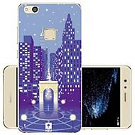 お買い得  携帯電話ケース-ケース 用途 Huawei P10 Lite 耐衝撃 / 耐埃 / 超薄型 フルボディーケース シティビュー ソフト シリコーン のために P10 Lite