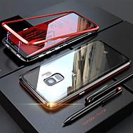 Недорогие Чехлы и кейсы для Galaxy Note-Кейс для Назначение SSamsung Galaxy Note 9 / Note 8 Прозрачный Чехол Однотонный Твердый Закаленное стекло / Металл для Note 9 / Note 8