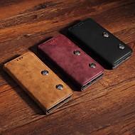 Недорогие Чехлы и кейсы для Galaxy Note-Кейс для Назначение SSamsung Galaxy Note 9 Кошелек / Бумажник для карт / со стендом Чехол Однотонный / Плитка Твердый Кожа PU для Note 9