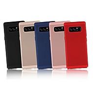 Недорогие Чехлы и кейсы для Galaxy Note-Кейс для Назначение SSamsung Galaxy Note 9 / Note 8 Ультратонкий Кейс на заднюю панель Однотонный Твердый ПК для Note 9 / Note 8 / Note 5