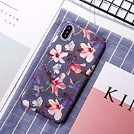 Недорогие Кейсы для iPhone 8 Plus-Кейс для Назначение Apple iPhone XR / iPhone XS Max С узором Кейс на заднюю панель Цветы Твердый ПК для iPhone XS / iPhone XR / iPhone XS Max