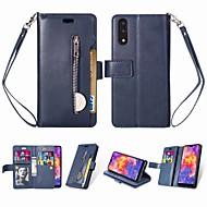preiswerte Handyhüllen-Hülle Für Huawei P20 mit Halterung / Flipbare Hülle / Magnetisch Ganzkörper-Gehäuse Solide Hart PU-Leder für Huawei P20