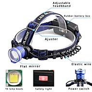 preiswerte Taschenlampen, Laternen & Lichter-U'King Stirnlampen Fahrradlicht LED LED Sender 2000 lm 3 Beleuchtungsmodus inklusive Batterien und Ladegeräten Zoomable-, Alarm, einstellbarer Fokus Camping / Wandern / Erkundungen, Für den täglichen