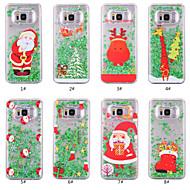 Недорогие Чехлы и кейсы для Galaxy S8-Кейс для Назначение SSamsung Galaxy S8 Plus / S8 Движущаяся жидкость / Прозрачный / С узором Кейс на заднюю панель Рождество Твердый ПК для S8 Plus / S8 / S7 edge