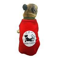 abordables -Chiens Sweatshirt Vêtements pour Chien Personnage / Britannique / Slogan Noir / Rouge Coton Costume Pour les animaux domestiques Unisexe Style Mignon / Décontracté / Quotidien