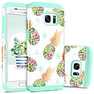 Недорогие Чехлы и кейсы для Galaxy S-BENTOBEN Кейс для Назначение SSamsung Galaxy S7 Защита от удара / С узором Кейс на заднюю панель Фрукты Твердый ПК / силикагель для S7