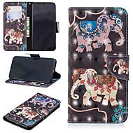 Недорогие Кейсы для iPhone 8-Кейс для Назначение Apple iPhone XS / iPhone XS Max Кошелек / Бумажник для карт / со стендом Чехол Слон Твердый Кожа PU для iPhone XS / iPhone XR / iPhone XS Max