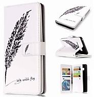 Недорогие Чехлы и кейсы для Galaxy Note 8-Кейс для Назначение SSamsung Galaxy Note 9 / Note 8 / Note 5 Кошелек / Бумажник для карт / со стендом Чехол  Перья Твердый Кожа PU для Note 9 / Note 8 / Note 5