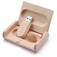 お買い得  -16GB USBフラッシュドライブ USBディスク USB 2.0 木製 不規則型 ワイヤレスストレージ