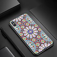 Недорогие Модные популярные товары-Случай nillkin для яблока iphone xr / iphone xs max ударопрочный / узор задней обложки цветок твердый tpu / закаленное стекло для iphone xr / iphone xs max