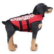 levne -Psi Záchranné vesty Oblečení pro psy Jednobarevné / Klasický Oranžová / Zelená Látka Kostým Pro domácí mazlíčky Unisex Jedinečný design / Casual / Sportovní