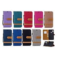 preiswerte Handyhüllen-Hülle Für Xiaomi Xiaomi Pocophone F1 / Redmi 6 Geldbeutel / Kreditkartenfächer / mit Halterung Ganzkörper-Gehäuse Solide Hart Textil für Redmi Note 5A / Xiaomi Redmi Note 6 / Xiaomi Pocophone F1