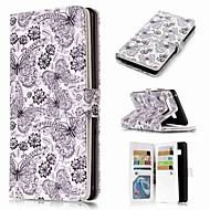Недорогие Чехлы и кейсы для Galaxy Note 8-Кейс для Назначение SSamsung Galaxy Note 9 / Note 8 / Note 5 Кошелек / Бумажник для карт / со стендом Чехол Бабочка Твердый Кожа PU для Note 9 / Note 8 / Note 5