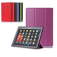 お買い得  携帯電話ケース-ケース 用途 Lenovo Lenovoタブ3 10事業(TB3-X70F / N) / Lenovo Tab 3 10 Plus スタンド付き / フリップ / 360°ローテーション フルボディーケース ソリッド ハード PUレザー のために Lenovo Tab 3 10 Plus / Lenovoタブ3 10事業(TB3-X70F / N) / Lenovo Tab 2 A10-70
