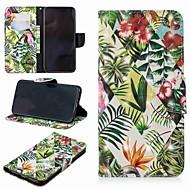 Недорогие Кейсы для iPhone 8 Plus-Кейс для Назначение Apple iPhone XR / iPhone XS Max Кошелек / Бумажник для карт / со стендом Чехол Растения Твердый Кожа PU для iPhone XS / iPhone XR / iPhone XS Max
