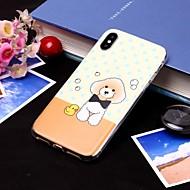 Недорогие Кейсы для iPhone 8-Кейс для Назначение Apple iPhone XS / iPhone XS Max IMD / Полупрозрачный Кейс на заднюю панель С собакой Мягкий ТПУ для iPhone XS / iPhone XR / iPhone XS Max