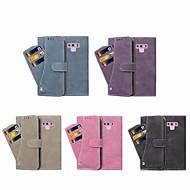 Недорогие Чехлы и кейсы для Galaxy Note-Кейс для Назначение SSamsung Galaxy Note 9 / Note 8 Кошелек / Бумажник для карт / со стендом Чехол Однотонный Твердый Кожа PU для Note 9 / Note 8