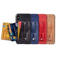 Недорогие Кейсы для iPhone 8 Plus-Кейс для Назначение Apple iPhone XR / iPhone XS Max Бумажник для карт / со стендом / Матовое Кейс на заднюю панель Однотонный Твердый Кожа PU для iPhone XS / iPhone XR / iPhone XS Max