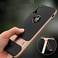 abordables Fundas para iPhone 8-Funda Para Apple iPhone XR / iPhone XS Max con Soporte Funda Trasera Un Color Dura ordenador personal para iPhone XS / iPhone XR / iPhone XS Max