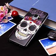 Недорогие Чехлы и кейсы для Galaxy S7-Кейс для Назначение SSamsung Galaxy S9 Plus / S9 IMD / С узором Кейс на заднюю панель Черепа Мягкий ТПУ для S9 / S9 Plus / S8 Plus