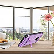 Недорогие Чехлы и кейсы для Galaxy A5(2017)-BENTOBEN Кейс для Назначение SSamsung Galaxy A8 2018 / А5 (2018) Защита от удара / со стендом / Покрытие Кейс на заднюю панель Сияние и блеск Твердый Кожа PU / ТПУ / ПК для A5(2018) / A5 (2017) / A8