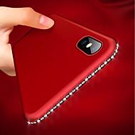 Недорогие Кейсы для iPhone 8-Кейс для Назначение Apple iPhone XR / iPhone XS Max Ультратонкий / Матовое Кейс на заднюю панель Стразы Мягкий ТПУ для iPhone XS / iPhone XR / iPhone XS Max