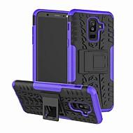 Недорогие Чехлы и кейсы для Galaxy А-Кейс для Назначение SSamsung Galaxy A6+ (2018) со стендом Кейс на заднюю панель броня Твердый ПК для A6+ (2018)