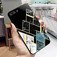 Недорогие Кейсы для iPhone 8 Plus-Кейс для Назначение Apple iPhone X / iPhone 8 Plus С узором Кейс на заднюю панель Полосы / волосы / Мрамор Твердый Закаленное стекло для iPhone X / iPhone 8 Pluss / iPhone 8