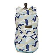 abordables -Chiens Gilet Vêtements pour Chien Camouflage / Personnage / Slogan Jaune / Bleu / Rose Térylène Costume Pour les animaux domestiques Unisexe Style Mignon / Décontracté / Quotidien