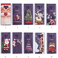 abordables Galaxy Note 8 Carcasas / Fundas-Funda Para Samsung Galaxy Note 9 / Nota 8 Diseños Funda Trasera Navidad Suave TPU para Note 9 / Note 8