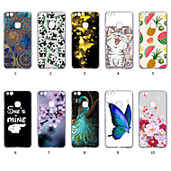 preiswerte Handyhüllen-Hülle Für Huawei P10 Lite Staubdicht / Ultra dünn / Muster Rückseite Tier / Lace Printing / Frucht Weich TPU für P10 Lite