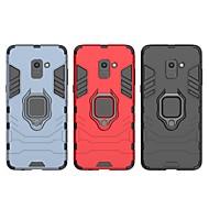 Недорогие Чехлы и кейсы для Galaxy А-Кейс для Назначение SSamsung Galaxy A8 Plus 2018 Защита от удара / Кольца-держатели Кейс на заднюю панель Однотонный / броня Твердый ПК для A8+ 2018