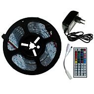 billige -SENCART 5 m Lyssæt 300/150 lysdioder SMD5050 1 44Køler fjernbetjening / 1 x 2A strømadapter RGB Chippable / Dekorativ / Koblingsbar 100-240 V 1set