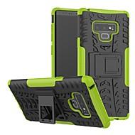 Недорогие Чехлы и кейсы для Galaxy Note 8-Кейс для Назначение SSamsung Galaxy Note 9 / Note 8 Защита от удара / со стендом Кейс на заднюю панель Геометрический рисунок Твердый Силикон / ПК для Note 9 / Note 8