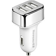 Недорогие Автомобильные зарядные устройства-Newmine Автомобиль Автомобильное зарядное устройство / Прикуриватель 3 USB порта для 5 V