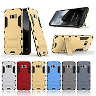 Недорогие Чехлы и кейсы для Galaxy S8-Кейс для Назначение SSamsung Galaxy S8 Защита от удара / со стендом Кейс на заднюю панель Однотонный Твердый ПК для S8