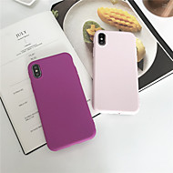 Недорогие Кейсы для iPhone 8 Plus-Кейс для Назначение Apple iPhone XR / iPhone XS Max Матовое Кейс на заднюю панель Однотонный Мягкий ТПУ для iPhone XS / iPhone XR / iPhone XS Max
