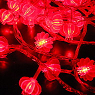 cheap -6m String Lights 40 LEDs Red Decorative AA Batteries Powered 1 set