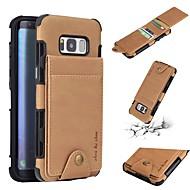 Недорогие Чехлы и кейсы для Galaxy S8 Plus-Кейс для Назначение SSamsung Galaxy S8 Plus / S8 Кошелек / Бумажник для карт / Защита от удара Кейс на заднюю панель Однотонный Мягкий Кожа PU для S8 Plus / S8