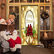 cheap -Door Stickers - 3D Wall Stickers Christmas Decorations / Holiday Indoor / Outdoor