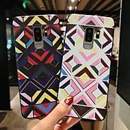 Недорогие Чехлы и кейсы для Galaxy S9 Plus-Кейс для Назначение SSamsung Galaxy S9 Plus / S9 Матовое / Рельефный / С узором Кейс на заднюю панель Геометрический рисунок Мягкий ТПУ для S9 / S9 Plus / S8 Plus