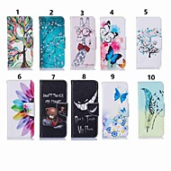 Недорогие Чехлы и кейсы для Galaxy S-Кейс для Назначение SSamsung Galaxy S9 Plus / S8 Plus Кошелек / Бумажник для карт / со стендом Чехол Бабочка / дерево / Цветы Твердый Кожа PU для S9 / S9 Plus / S8 Plus