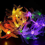 cheap -4.6m String Lights 20 LEDs Multi Color Solar / Decorative Solar Powered 1 set