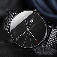 cheap Jewelry & Watches-Men's Wrist Watch Quartz 30 m Calendar / date / day Creative New Design Stainless Steel Band Analog Casual Minimalist Silver / Gold / Rose Gold - Black Silver Rose One Year Battery Life