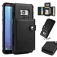 Недорогие Чехлы и кейсы для Galaxy S8-Кейс для Назначение SSamsung Galaxy S8 Plus / S8 Кошелек / Бумажник для карт / Защита от удара Кейс на заднюю панель Однотонный Мягкий ТПУ для S8 Plus / S8