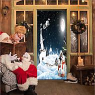 abordables Adhesivos Decorativos-Pegatinas de puerta - Calcomanías 3D para Pared Navidad / Día Festivo Interior / Al Aire Libre