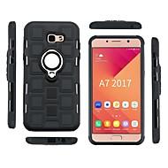 Недорогие Чехлы и кейсы для Galaxy A7(2017)-Кейс для Назначение SSamsung Galaxy A7(2017) / A5(2017) Защита от удара / Кольца-держатели Кейс на заднюю панель броня Мягкий ТПУ для A3 (2017) / A5 (2017) / A7 (2017)