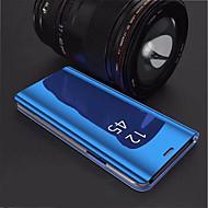 Недорогие Чехлы и кейсы для Galaxy S7 Edge-Кейс для Назначение SSamsung Galaxy S9 Plus / S8 Plus со стендом / Покрытие / Зеркальная поверхность Кейс на заднюю панель Однотонный Твердый Акрил для S9 / S9 Plus / S8 Plus